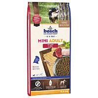 Корм BOSCH MINI ADULT с ягненком и рисом для собак малых пород, 15 кг