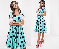 Женское легкое летнее платье круги