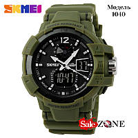 Гарантия! Подарок! Часы skmei 1040 зеленые