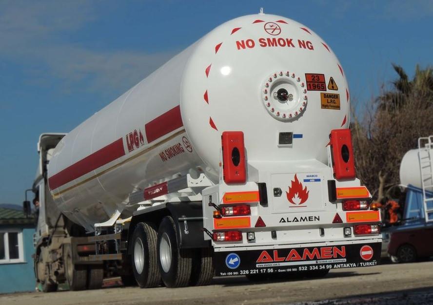 Автоцистерна ALAMEN 53м3 для перевозки бензина
