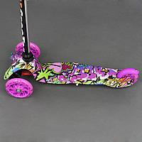 Самокат детский Scooter Mini Style Girl Draft F с рисунком светящиеся колеса