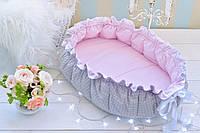 Позиционер (гнездышко)для малыша Babynest Облачко розовый