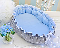 Позиционер (гнездышко)для малыша Babynest Облачко голубой