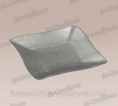 Тарелочка серебристая «Bon-Bon Quadrato» (7,5x7,5 см)