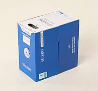 Витая пара UTP кат5e FoxLux blue (4x2x0.5 сечение - 0.5mm) Al-Cu (CCA) для внутренней прокладки (305m)