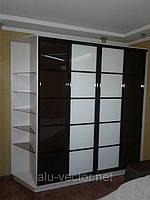Двери с комбинированным стеклом Лакобель