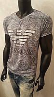 Мужская футболка, Armani Jeans,тонкая марлевка,турецкие трикотажные футболки