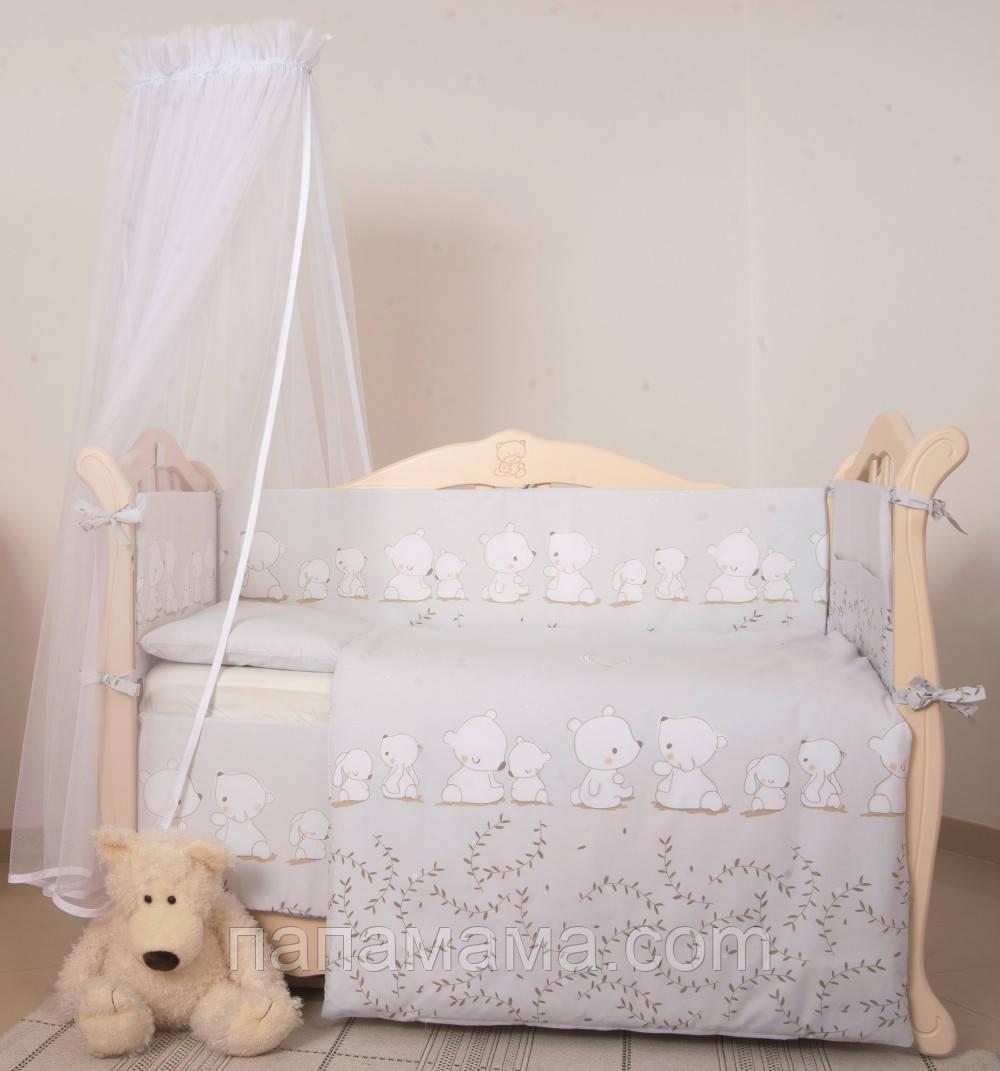 Детская постель Twins Eco Line Umka baby 6 ел grey
