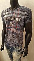 Мужская футболка, BURBERRY, тонкая марлевка, турецкие трикотажные футболки