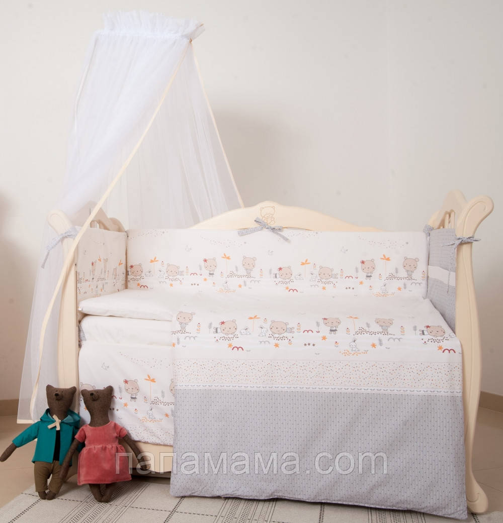 Детская постель Twins Eco Line Nice day 6 ел beige