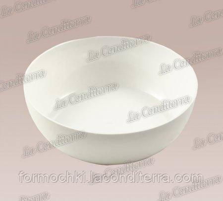 Белая пластиковая тарелка «Party» (d–11 см, h–3 см)
