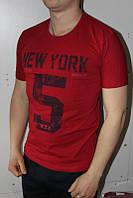 Бордо Мужская Футболка Турция молодёжная приталенная NEW YORK