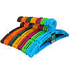 Пластиковые цветные плечики вешалки 41см с перекладиной для одежды
