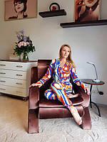 Классическая женская пижама из легкого штапеля