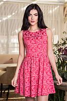 Невероятное красивое женское платье з жаккарда с пышной юбкой размер: 44,46,48
