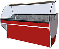 Витрина холодильная без охлаждаемого бокса Эко с гнутым стеклом (1 м, 1.2 м, 1.3 м, 1.5 м, 1.8 м, 2 м)