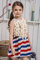 Платье для девочки Якорьки