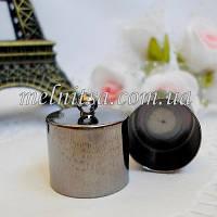 Концевик-колпачок  для бисерных жгутов, 15 мм, цвет черный, металл,  1 пара