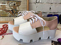 Женские летние туфли, натуральная кожа