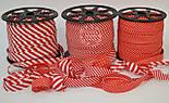 Косая бейка из хлопка с красной полоской 5 мм для окантовки, фото 5