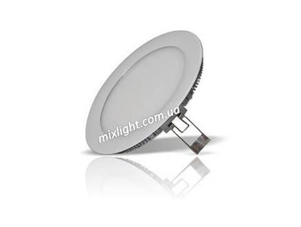 Светодиодный встраиваемый светильник круг 6W 4000K, фото 2