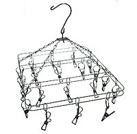 Вертушка с прищепками квадратная металлическая