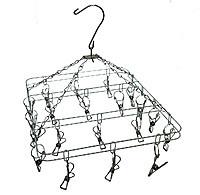 Вертушка с прищепками(металл) квадратная(20пр)