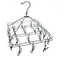 Вертушка с прищепками(металл) квадратная(20пр), фото 2