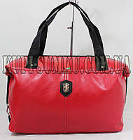 Красная спортивная сумка из эко-кожи