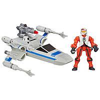 Игровой набор Hasbro Разборные транспортные средства вселенной Звёздные Войны Resistance x-wing & Resistance p