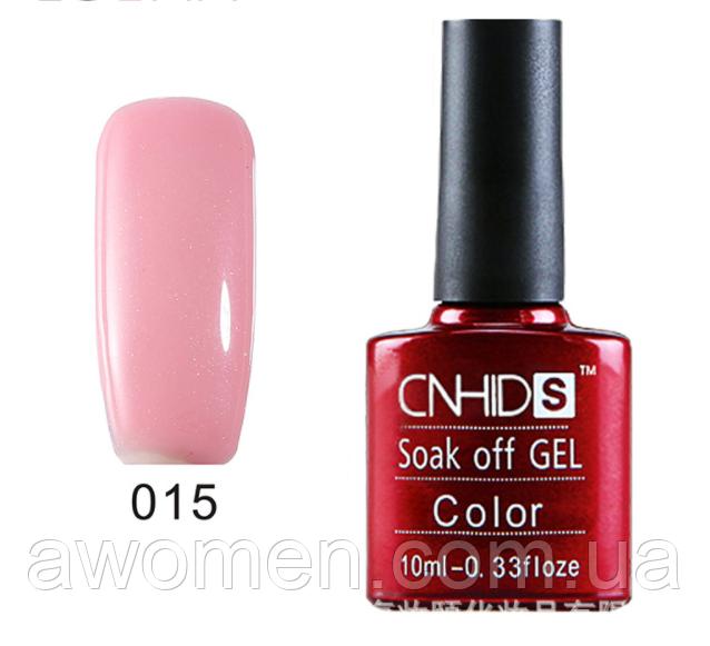 Гель лак СND S - 10 мл № 015 розовый с шиммером