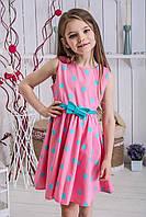 Платье для девочки летнее в горошек Мятный Горошек, фото 1