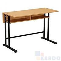 """Стол ученический """"E-162  black"""" с  полкой (ТМ Новый стиль, школьная парта, школьная мебель)"""