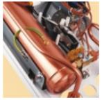 Медные нагревательные элементы трубчатого типа водонагревателя Kospel Bonus KDE 27