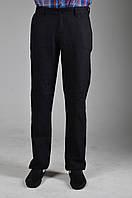 Черно-синие льняные мужские брюки