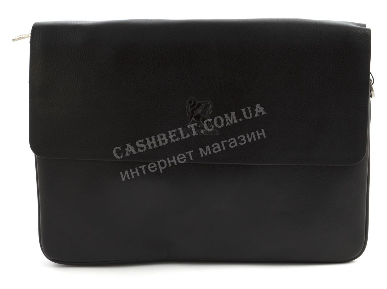 Якісна міцна чоловіча горизонтальна сумка з якісної шкіри PU GORANGD art. P66861-4 чорний