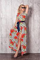 Очень красивое длинное платье в пол на запах размер: 44