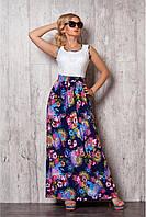 Красивое и удобное длинное летнее платье размер: 42