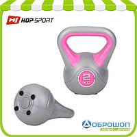 Гиря виниловая Hop-Sport 2кг, фото 1