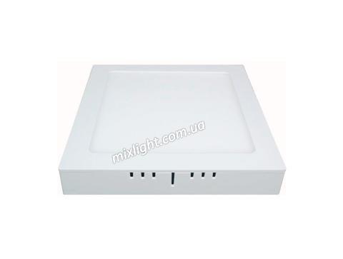 Накладной квадратный светодиодный светильник 18W 6500К