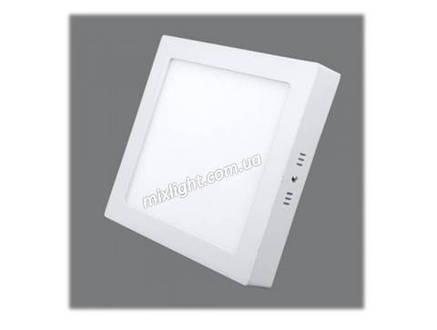 Накладной квадратный светодиодный светильник 18W 6500К, фото 2