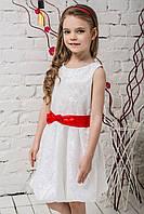 Праздничное платье детское Гипюровое (белое)