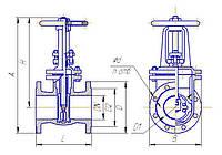 Задвижка 30ч6бк параллельная с выдвижным шпинделем Ду80