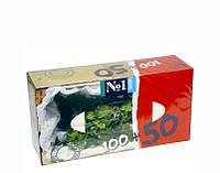 Салфетки бумажные Bella универсальные двухслойные Мята 100+50 шт