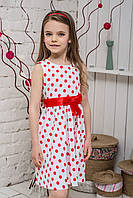 Платье детское Красный горох