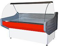 Низкотемпературная холодильная Витрина Престиж с гнутым стеклом  (1 м, 1.2 м, 1.3 м, 1.5 м, 1.8 м, 2 м)