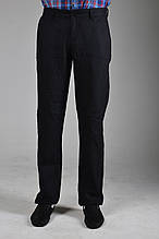 Черные льняные мужские брюки