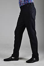 Черные льняные мужские брюки, фото 2