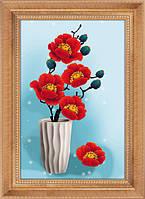 """Наборы для рисования камнями 5D (частичная выкладка на холсте) """"Зимний вальс"""" LasKo 5D-081"""