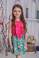 Платье детское Коралл-Цветы